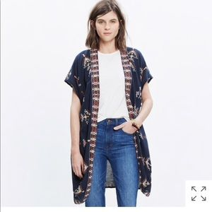 Madewell Tops - Madewell Robe Jacket in Folkstitch